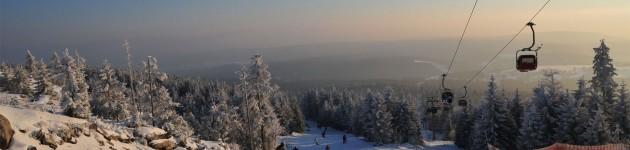 urlaub fichtelgebirge: skiabfahrt ochsenkopf