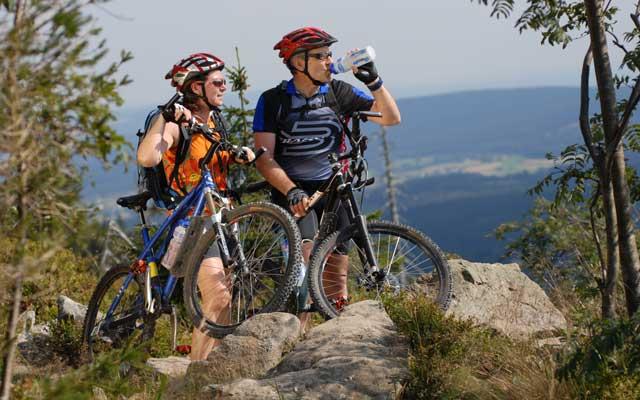 MTB Ochsenkopf im Fichtelgebirge. Mountainbike