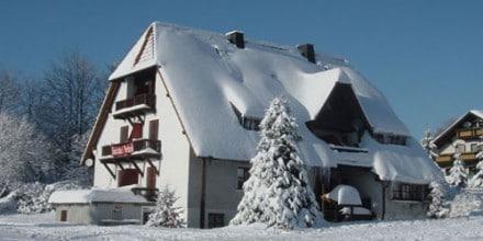 fichtelgebirge: ferienhaus im winter