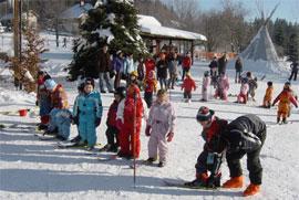 kinderskikurs der skischule hottenroth im fichtelgebirge