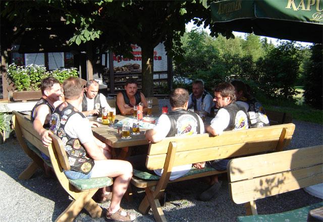 motorradtouren durchs fichtelgebirge:Einkehr nach einer Motorradtour