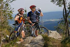 freizeit und sport: mountainbike vor der haustüre am ochsenkopf