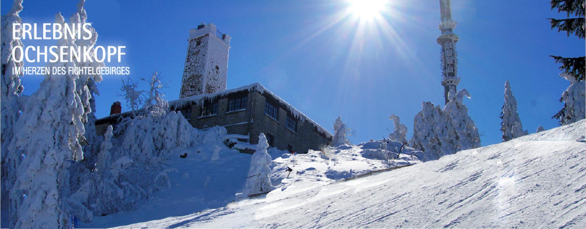 wintersport am Ochsenkopf im fichtelgebirge