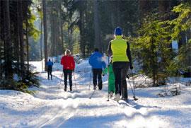 skiwandern am ochsenkopf im fichtelgebirge