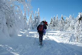 winterskitour im fichtelgebirge