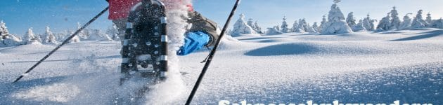 urlaub fichtelgebirge: schneeschuhwandern