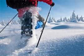 urlaub fichtelgebirge: schneeschuhwandern am ochsenkopf