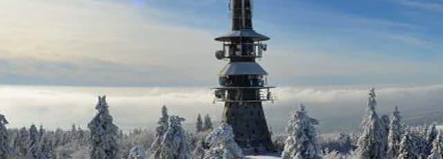 Sendeturm am Ochsenkopf im Fichtelgebirge, nähe der unterkunft