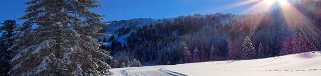 urlaub fichtelgebirge: skilanglauf, loipe