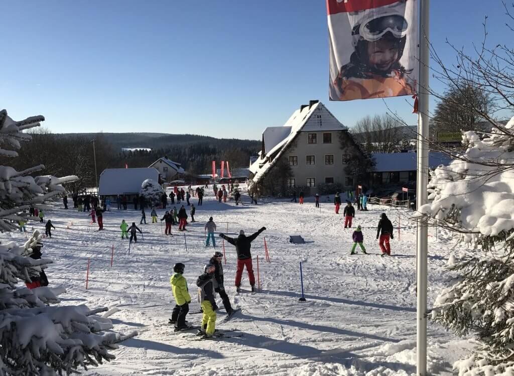skikurs bei den Ferienwohnungen